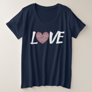 LOVE Heart Plus Size T-Shirt