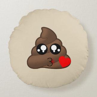 Love Heart Poop Emoji Pillow