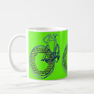 Love Heart Portland Bicycle Coffee Mug