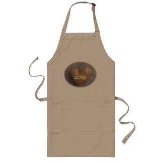Love heart potato apron