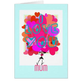 LOVE-HEART pour la maman Carte De Correspondance