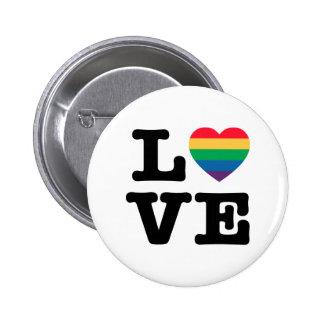 Love Heart Pride Button