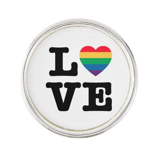 Love Heart Pride Lapel Pin