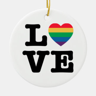Love Heart Pride Ornament