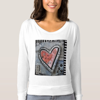 love, heart, red, black, stitched, top, sweatshirt