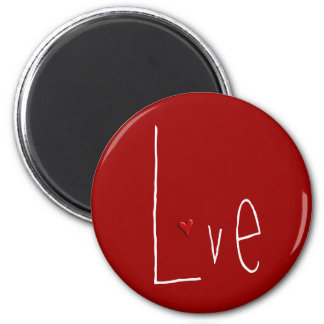 Love Heart red Magnet