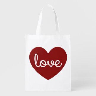 Love Heart reusable bag Reusable Grocery Bag