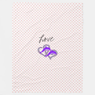 Love Heart Romantic Kiss Love Destiny Destiny's Fleece Blanket
