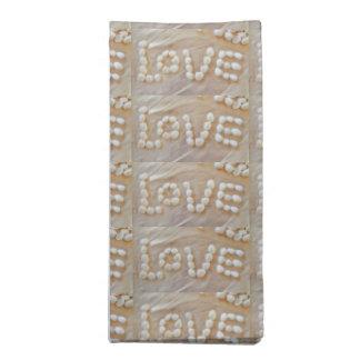 Love Heart Sea Shell Beach Hearts Seashells Summer Napkin