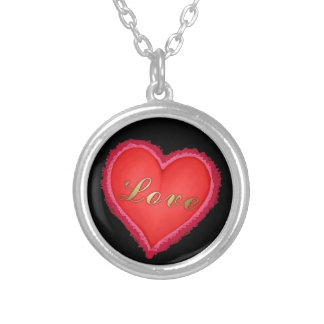 Love Heart Silver Plated Necklace