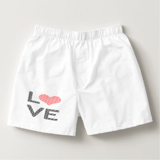Love - heart - strips - black and pink. boxers