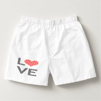 Love - heart - strips - black and red. boxers