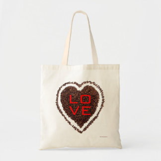 Love Heart Valentine Save the Date Coffee Bride Budget Tote Bag