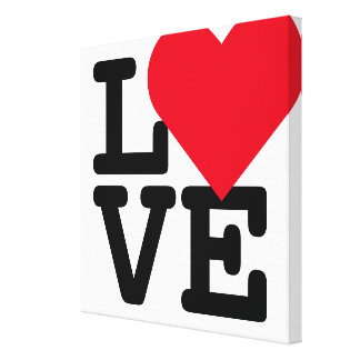 Love Heart Wedding Newlywed Couple Home Room Decor Canvas Print