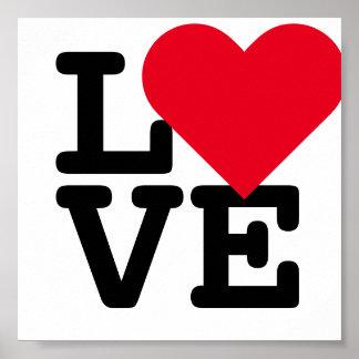 Love Heart Wedding Valentines Day Decor Art Poster