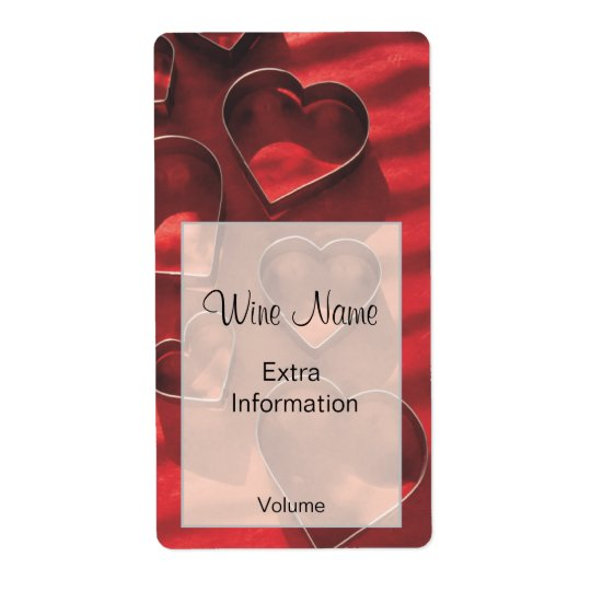 Love Heart Wine Label