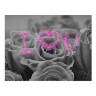 Love Heart With Roses Postcard