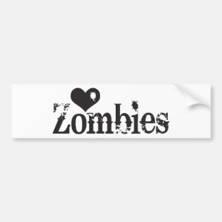 Love (Heart) Zombies Bumper Sticker