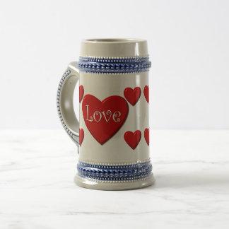 Love Hearts 22 oz Stein