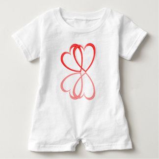 Love hearts. baby romper