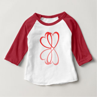 Love hearts. baby T-Shirt