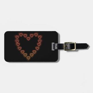 Love hearts. bag tag