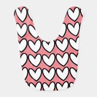 Love Hearts Bib Baby Girl