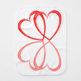Love hearts. burp cloths