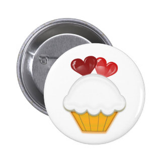 Love Hearts Cupcake Art Buttons