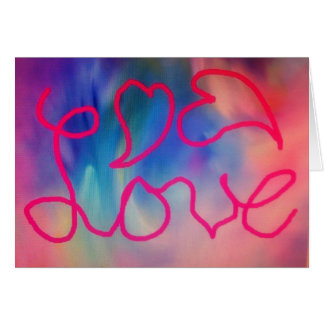 Love & Hearts Greeting Card
