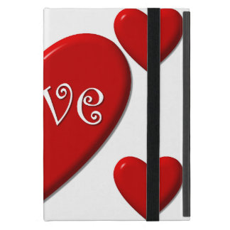 Love Hearts iPad Mini Case with No Kickstand
