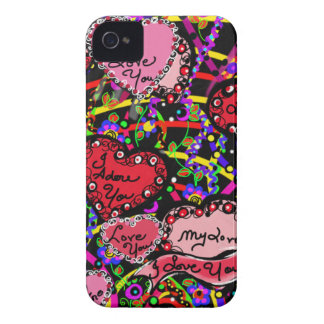 Love Hearts iPhone 4 Cover