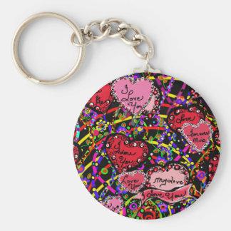 Love Hearts Keychain
