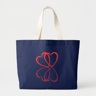 Love hearts. large tote bag