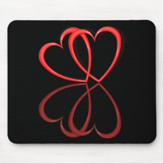 Love hearts. mouse pad