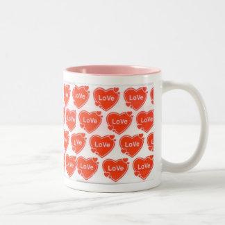 'LOVE' HEARTS MUG