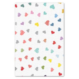 Love Hearts multi color tissue paper
