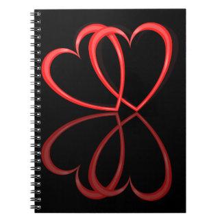 Love hearts. note books