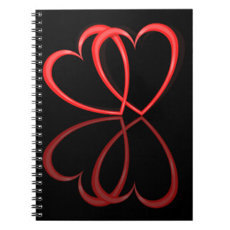 Love hearts. notebooks