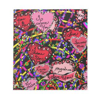 Love Hearts Notepad