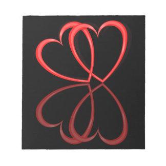 Love hearts. notepad
