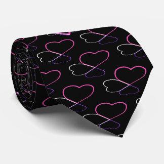 Love Hearts Pink Monogrammed Tie