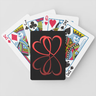 Love hearts. poker deck