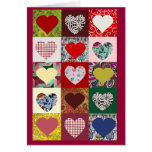 Love Hearts Quilt Greeting Card