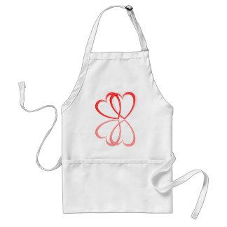 Love hearts. standard apron