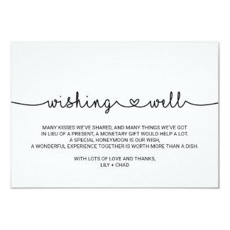 Love Hearts Wedding Wishing Well Card