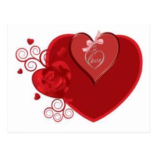 Love Heartstrings Postcard