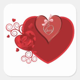 Love Heartstrings Square Sticker