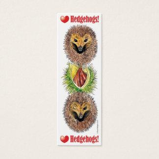 LOVE Hedgehogs! Bookmark Mini Business Card