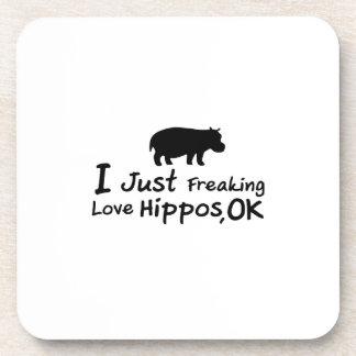 Love Hippos Funny Hippopotamus Loverss Fiona Baby Coaster